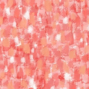 Coral, Orange, Pink & White Oil Paint Abstract
