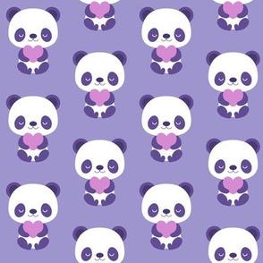 Cute purple baby pandas