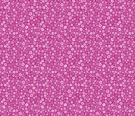 Posies in Pink fabric by thewellingtonboot on Spoonflower - custom fabric