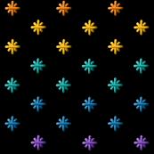 stitched rainbow stars
