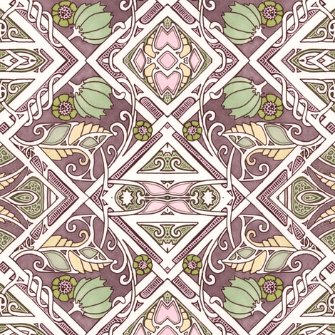 On An Edwardian Trellis fabric by edsel2084 on Spoonflower - custom fabric