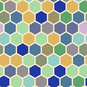 Olive blue periwinkle purple mint green cream taupe brown Hexagon Spots dots _ Miss Chiff Designs