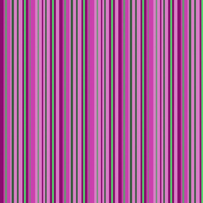 #SAGE secret garden fuchsia green stripes