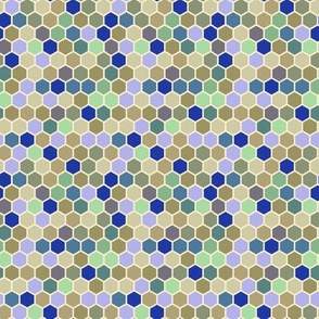 18-07K Tiny Olive blue periwinkle purple mint green cream taupe Hexagon Spots dots _ Miss Chiff Designs
