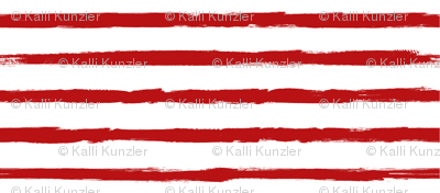 Small Painted Red Stripes on White