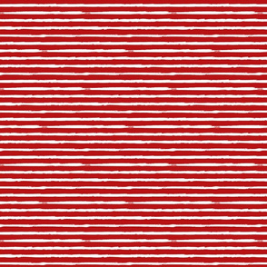 Small Painted White Stripes on Red