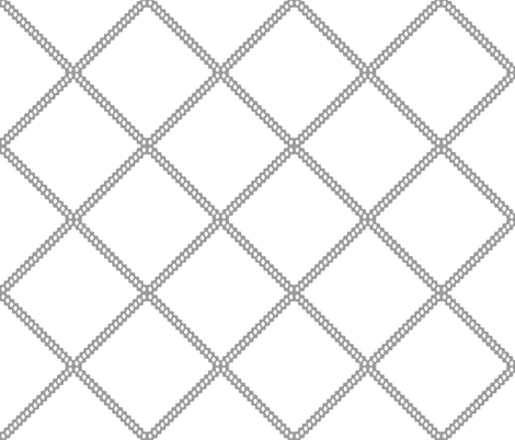Gray diamond lattice grey diamond ogee fabric by jenlats on Spoonflower - custom fabric