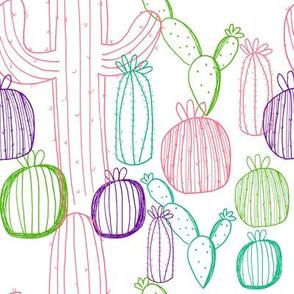 Pastel Cactus Pattern