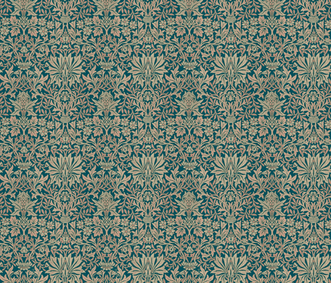 Kelmscott Garden Pompeii Blue fabric by amyvail on Spoonflower - custom fabric