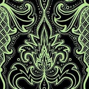 damask mint black