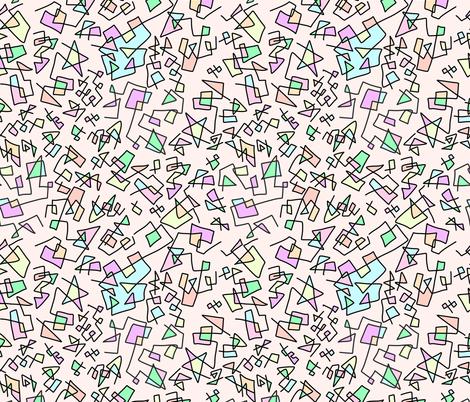 Rainbow Doodles fabric by manateedesignsco on Spoonflower - custom fabric