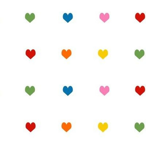 hearts rainbow valentines heart fabric hearts red yellow green blue hearts rainbow hearts cute
