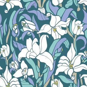 Monja Blanca Orchid Blue