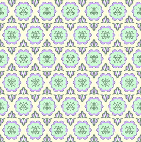 Emily Sue's Summer Sheets / lavender & mint fabric by franbail on Spoonflower - custom fabric