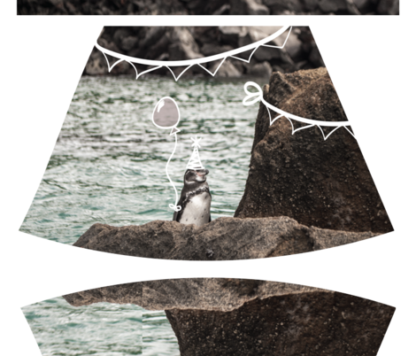 Cut and Sew Dress in Party Penguin fabric by charleneruell on Spoonflower - custom fabric