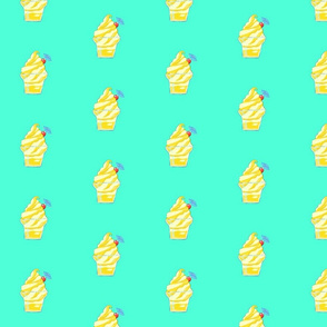 Pineapple drink print on  minty