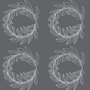 Coffee branch wreath grey