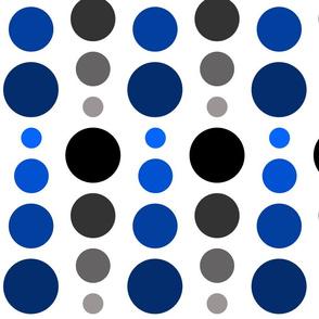 Black Noir & Navy Blue Ombre Spots