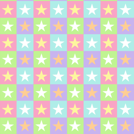 Pastel Stars fabric by jadegordon on Spoonflower - custom fabric