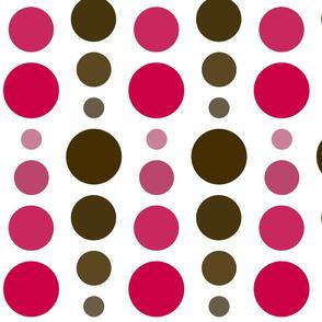 Brown Sepia & Fuchsia Red Ombre Spots
