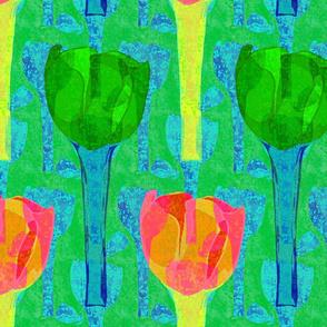 large rough tulips shapes