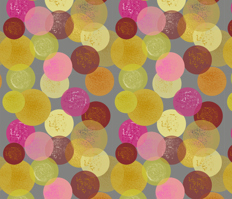 cheerful bubbles, by Susanne Mason fabric by susanne_mason_ on Spoonflower - custom fabric