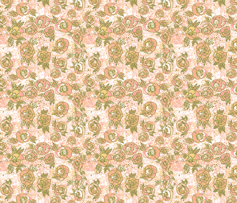 Sweet, cute and cozy rosies fabric by palusalu on Spoonflower - custom fabric
