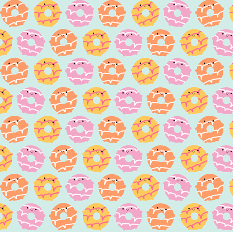 Kawaii Party Rings Biscuits fabric by marcelinesmith on Spoonflower - custom fabric