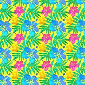 Little vivid tropic flowers