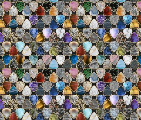 Rockin' Rocks - Geology Guitar picks medium fabric by rusticcorgi on Spoonflower - custom fabric