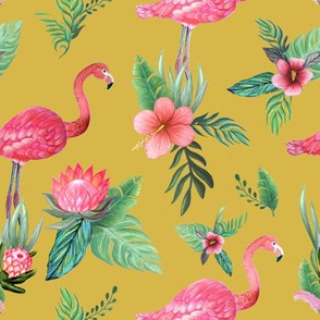 flamingo dream garden // tropical floral