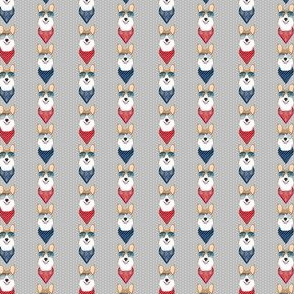 corgi sunglasses (Small size) summer bandana dog breed fabric grey