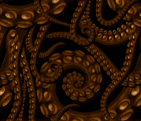 Kraken fabric by illustratorg on Spoonflower - custom fabric
