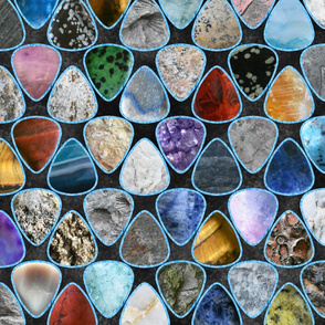 Rockin' Rocks - ice Geology Guitar picks large