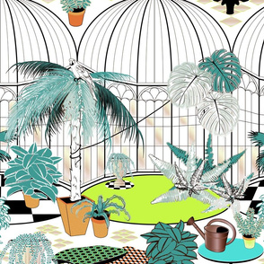 Tropical Greenhouse (Blue)