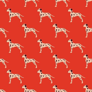 Vintage Matchbox Dalmatians - Red
