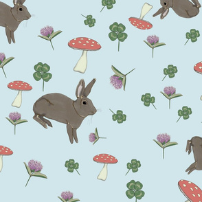 rabbits-clover-_-mushrooms-pattern