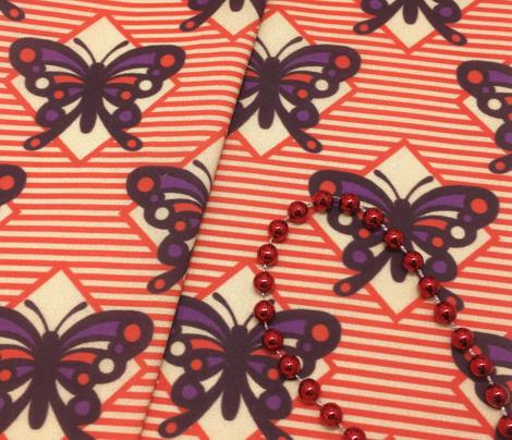 Vintage Matchbox Butterfly - Red Stripe