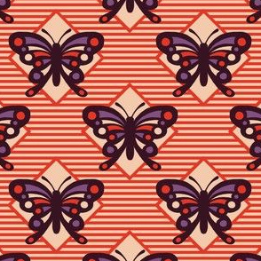 Vintage Matchbox Butterfly - Red Stripe
