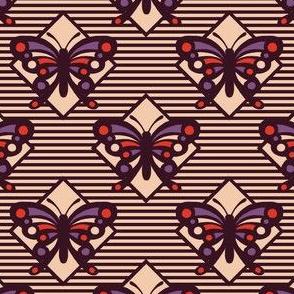 Vintage Matchbox Butterfly - Dark Stripe