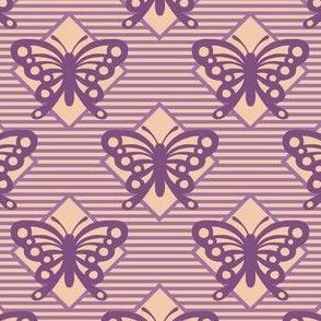 Vintage Matchbox Butterfly - Violet
