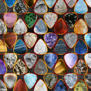 Rockin' Rocks - fire Geology Guitar picks large