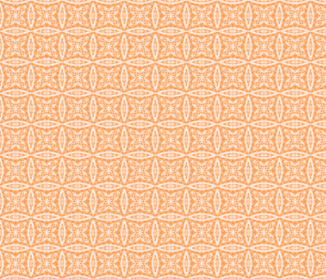 Crazy Lacy Peach Checkers fabric by just_meewowy_design on Spoonflower - custom fabric