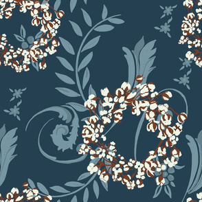 cotton-wreath-with-blue-jacquard-pattern