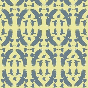 Circle of Crows (Slate on Yellow)