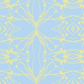 Dandelions (Yellow on Blue)