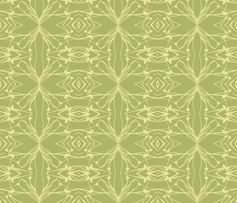 Hawkweed (Yellow on Green) fabric by belovedsycamore on Spoonflower - custom fabric