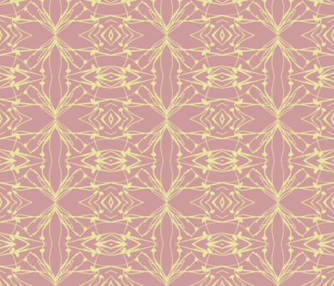Hawkweed (Yellow on Rose) fabric by belovedsycamore on Spoonflower - custom fabric