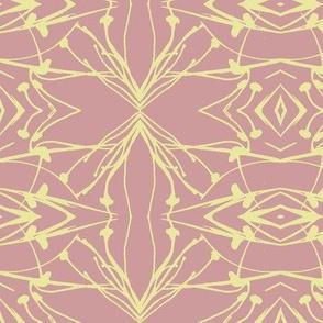 Hawkweed (Yellow on Rose)
