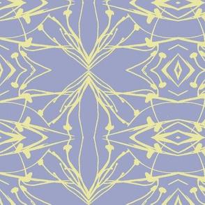 Dandelions (Yellow on Pale Blue-violet)